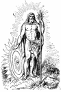 Baldr - (Norse mythology) god of light and peace and noted for his beauty and sweet nature