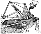 dredging bucket - a bucket for lifting material from a channel or riverbed