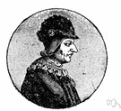 Louis XI - king of France who put down an alliance of unruly nobles and unified France except for Brittany (1423-1483)