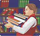 bibliothecarial - of or relating to a library or bibliotheca or a librarian