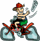 paperboy - a boy who sells or delivers newspapers