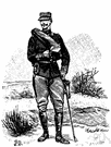swagger stick - a short cane or stick covered with leather and carried by army officers
