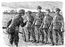 line officer - a commissioned officer with combat units (not a staff officer or a supply officer)