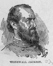 Stonewall Jackson - general in the Confederate Army during the American Civil War whose troops at the first Battle of Bull Run stood like a stone wall (1824-1863)