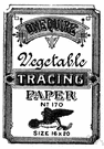 tracing paper - a semitransparent paper that is used for tracing drawings