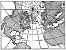 map projection - a projection of the globe onto a flat map using a grid of lines of latitude and longitude