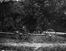 limber - a two-wheeled horse-drawn vehicle used to pull a field gun or caisson