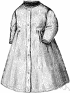 nightdress - lingerie consisting of a loose dress designed to be worn in bed by women