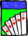 trente-et-quarante - a card game in which two rows of cards are dealt and players can bet on the color of the cards or on which row will have a count nearer some number